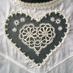 ~ Tatted Heart & Trim ~ Now to get my tatting needle out....