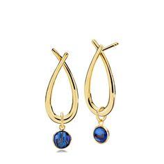 72fbd795d52 ATTITUDE øreringe med vedhæng af kongeblå kvarts - Smykker fra Izabel  Camille