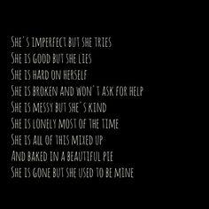 """She used to be mine"" - Sara Bareilles - I am obsessed!! ❤"