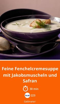 The Fine Fennel Soup recipe out of our category Cream Soup! EatSmarter has over healthy & delicious recipes online. Fennel Soup, Pureed Soup, Can I Eat, Food Shows, Recipe Search, Eat Smarter, Soul Food, Soup Recipes, Veggies