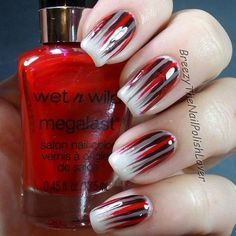 Nails red 15 Black & Red Gel Nail Art & Ideas 2017 – Nail Art 15 nail art em gel preto e vermelho e ideias 2017 - Nailart Red Gel Nails, Gel Nail Art, Nail Polish, Acrylic Nails, Red Ombre Nails, Red Manicure, Brown Nails, Nail Nail, Fancy Nails