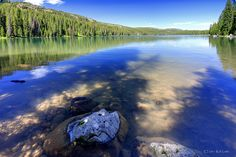 Island Lake on Grand Mesa. Near Grand Junction, CO.