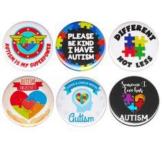 Pieces Quotes, Autistic Children, Button Badge, Metal Pins, Puzzles For Kids, Puzzle Pieces, Autism Awareness, Super Powers, Badges