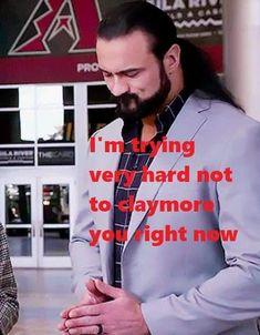 Wrestling Memes, Wwe Funny, Scottish Warrior, Drew Mcintyre, George Strait, Big Daddy, Wwe Superstars, Im Trying, Sexy Men
