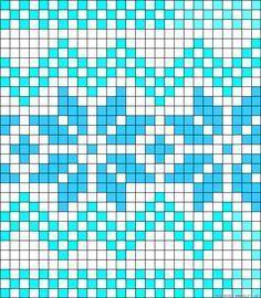 Norwegian perler bead pattern by clara - knitting charts Crochet Chart, Crochet Motif, Loom Beading, Beading Patterns, Cross Stitch Designs, Stitch Patterns, Yarn Wall Art, Graph Paper Art, Tapestry Crochet Patterns
