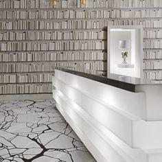 Banque d'accueil originale et chic. #design #decoration #professionnels