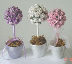 Origami paper flower topiary the wthwit project the wedding paper flower topiaries mightylinksfo
