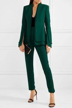 Emerald stretch-crepe Zip fastening along side 51% viscose, 46% acetate, 3% elastane Dry clean Designer color: Forest