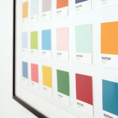 Pantone wall art | Craft Gawker | Bloglovin'
