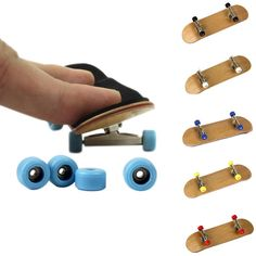 Buy Professional Maple Wood Finger Skateboard Online - Alloy Bearing Wheel