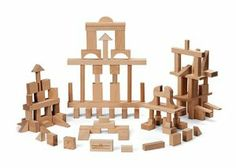 "My Best Blocks - Master Builder by Maple Landmark Woodcraft. $107.02. High quality, locally harvested maple goes into crafting this blocks. Each is sanded smooth.. Made in the USA for ages 1 1/2+. These blocks have no finish on them.. The base block is 1"" X 2"" X 4"".. Shipped in a durable cardboard box.. No child should be without a set of blocks. Maple building blocks in all the standard shapes you expect to see. Master Builder has 104 pieces with 21 different shapes. Hours ..."