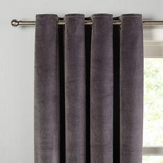 Buy John Lewis Lustre Velvet Lined Eyelet Curtains Online at johnlewis.com