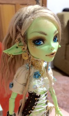 Excited to share the latest addition to my #etsy shop: Gaia custom Monster High doll repaint #ooak #monsterhigh