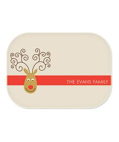 Take a look at this Reindeer Personalized Platter by sarah + abraham on #zulily today! $24 !!