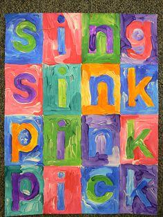 Word ladders inspired by Jasper Johns art