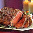 Roast New York Strip Loin with Garlic & Herb Crust - Epicurious.com