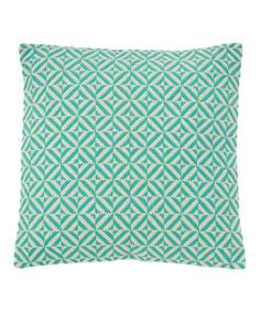 Another great find on #zulily! Turquoise Geometric Pillow #zulilyfinds