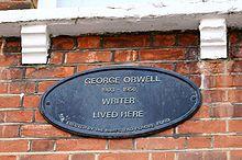 George Orwell - Targa sulla casa di Hampsted, Londra