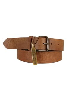 Chunky brown leather belt with brass buckles.    Sizes will fit most.   Leather Belt by Noa Noa. Accessories - Belts Australia