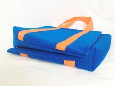 TripFelt double bag cobalt blue orange how it works http://totostyle.pl/