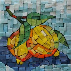 smalti mosaic | Student Work 6×6 Smalti | Pam Stratton Mosaic Artist would make lemons more yellows