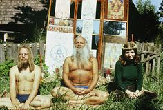 Estonian Mihkel Ram Tamm, centre, was a guru for Soviet hippies in Estonia and elsewhere. Photograph: courtesy of Vladimir Wiedemann Life in the 'hairy underground': the lost history of Soviet hippies Yoga Pictures, Pictures Of People, Hippie Movement, Psychedelic Drawings, Hippie Culture, Yoga At Home, Hair And Beard Styles, The Guardian, The Beatles