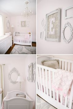 Soft and Pretty Pink and Gray Nursery