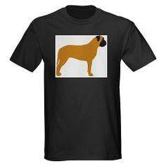 bullmastiff fawn silhouette T-Shirt > Bullmastiff > Paw Prints #dog #pet #AKC #Bullmastiff #mastiff #England