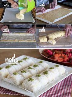 Food and drink dessert Turkish Delight, Turkish Recipes, Ethnic Recipes, Turkish Sweets, Wie Macht Man, Pastry Cake, Iftar, Dessert Recipes, Desserts