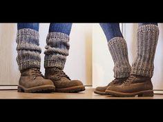"""Háčkované návleky na nohy """"Štucne"""" - šedé, Crochet Leg Warmers - YouTube Crochet Socks, Diy Crochet, Leg Warmers, Outfit, Youtube, Handmade, Accessories, Shoes, Anna"""