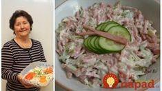 Nesmrteľný Å¡alát Rumcajs: lepÅ¡Ã Å¡alát jsem za celà © roky nejedla, přesně takto si ho pamätámz lahÃ'dok v naÅ¡em městě! Slovak Recipes, New Menu, What To Cook, Pickles, Asparagus, Sushi, Salads, Appetizers, Food And Drink