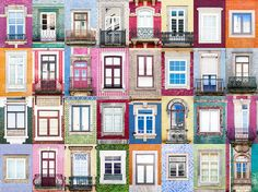 André Vicente Gonçalves Documents Hundreds of Doors and Windows Around the World,Windows of Porto. Image © Andre Vicente Goncalves