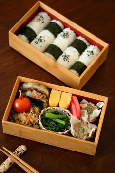 Japanese Bento Boxed Lunch|弁当 This looks so good! Kawaii Bento, Cute Bento, Japanese Bento Box, Japanese Food, Bento Recipes, Bento Box Lunch, Lunch Boxes, Cute Food, Sushi