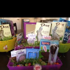 Very great idea give your wife an easter basket with make up and a caboodle used as a easter basket filled with makeup for my tween negle Image collections