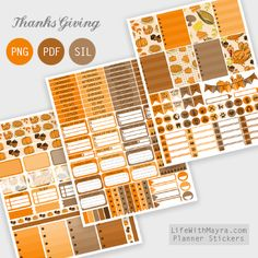 Free Printable Thanksgiving Planner Stickers {PDF, PNG and Silhouette files} from lifewithmayra