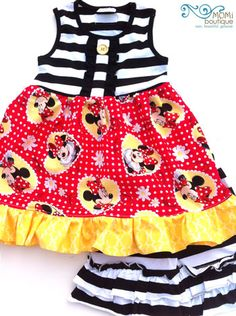 Summer Lovin Disney Minnie theme party parade pageant boutique girl toddler clothing