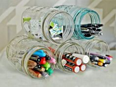 63 Ideas For Diy Desk Organization Mason Jars Awesome