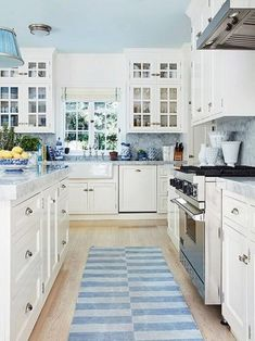 Blue And White Kitchen For The Home Blue And White Pinterest