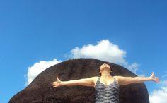 El cielo, la roca y yo. Imagen tomada en el Esado Amazonas.