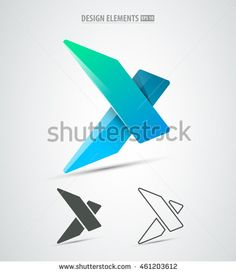 Vector Extreme Sports Corporate Identity Logo Icon Design Simple And Clean X Letter