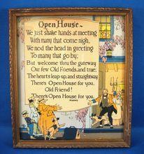 Buzz Motto Print Open House/rubylane-J Antiques Vintage Prints, Vintage Art, Best Motto, Mother Art, Mixed Media Journal, Shake Hands, Mottos, Vintage Illustrations, Pretty Pictures