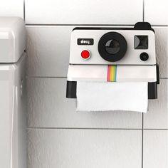 Avec le dérouleur / distributeur de papier toilette polaroid affichez votre passion de la photo dans la plus petite pièce de la maison! Vous aimez la phot