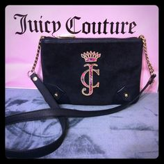 Juicy Couture cross-body bag/navy blue Brand New cross body-IBZA VELOUR Juicy Couture Bags Crossbody Bags