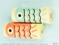 Koi Fish Jelly Roll Cake (tutorial - in Japenese - google translate to the rescue!)