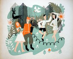My Vintage Avenue !!! 50's and 60's illustrations !!!: Feodora, illustrated by Jan Goeting.