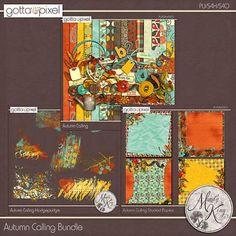 Autumn Calling Digital Scrapbook Bundle at Gotta Pixel. www.gottapixel.net/