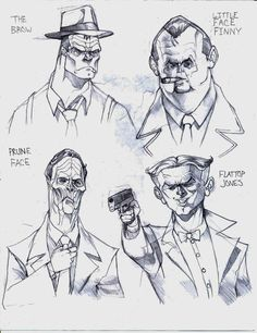 dick tracy villains | The Usual Suspects: Dick Tracy by packraptor