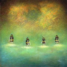 Neil Thompson Artist - Beneath the Clouds Acrylics on board