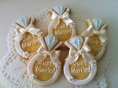 ♔ Wedding Ring Cookies