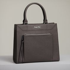 The saffiano leather small tote bag from Fall 2014 Calvin Klein white label.